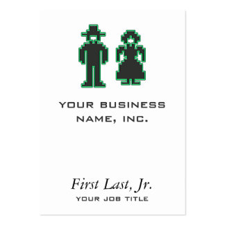 Stitchery Type Man and Woman Large Business Card