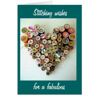 STITCHING FABULOUS 40th BIRTHDAY WISHES Card