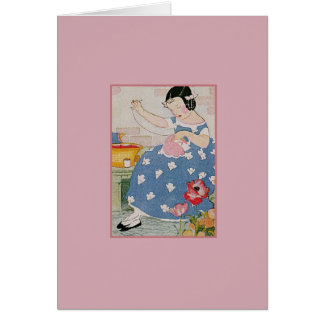 Stitching Girl Stationery Note Card