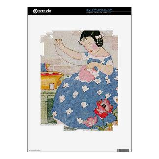 Stitching Girl iPad 2 Decals