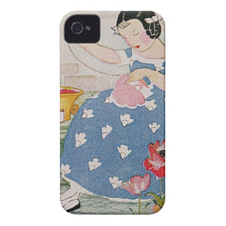 Stitching Girl iPhone 4 Cover