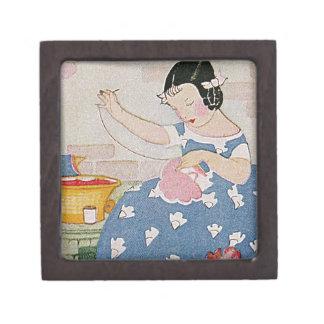 Stitching Girl Premium Keepsake Box