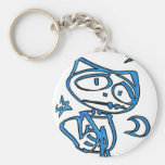 Stitchlip azul en la carretera (superhéroe del gat llavero personalizado