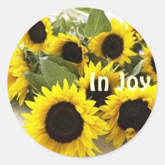 stiver zinn sunflower sticker
