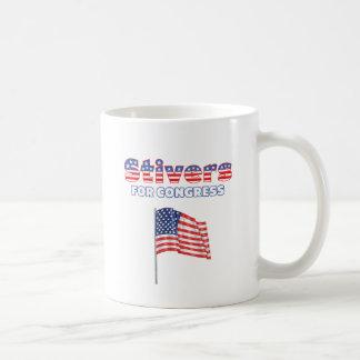 Stivers para la bandera americana patriótica del c taza básica blanca