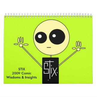 STIX 2009 Comic Wisdoms & Insights Calendar