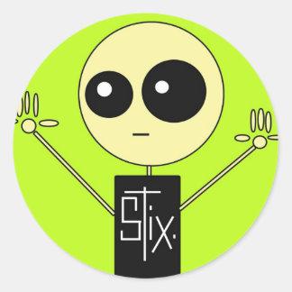 STIX: STIX GUY CLASSIC ROUND STICKER