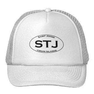 STJ - Óvalo euro del estilo de las Islas Vírgenes Gorro De Camionero