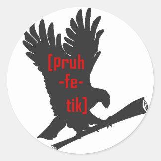 stkr del águila pegatina redonda