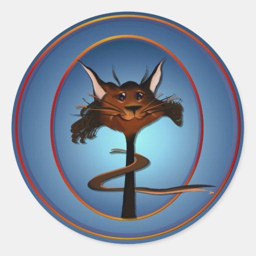 Stlylin' Brown Cat Face Sticker