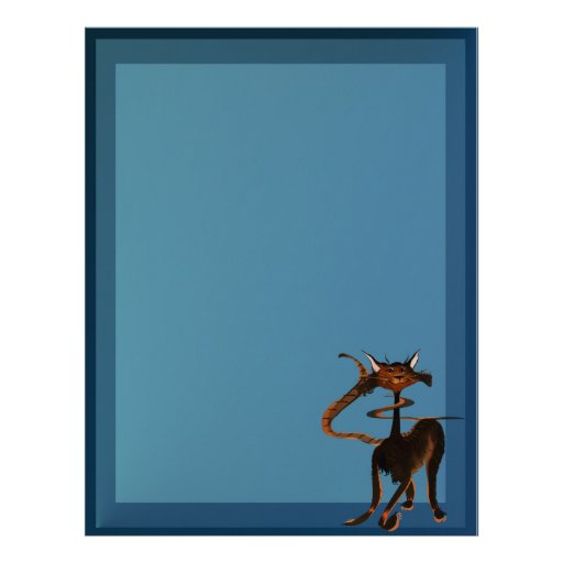Stlylin' Brown Cat Letterhead