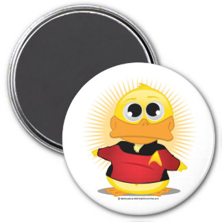 STNG Red Shirt Duck 3 Inch Round Magnet