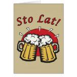 Sto Lat Beer Mugs Card