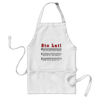 Sto Lat! Song Adult Apron