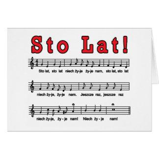 Sto Lat! Song Card