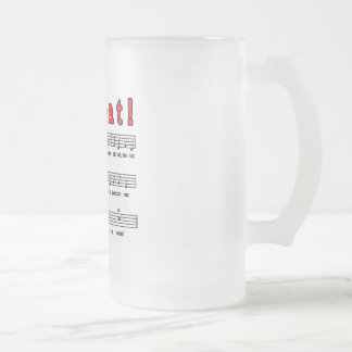 Sto Lat! Song Frosted Glass Beer Mug