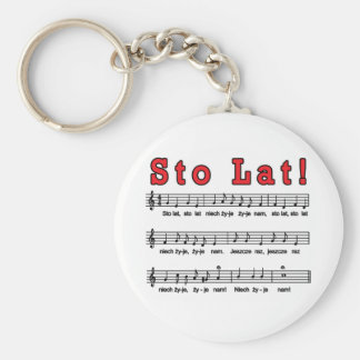 Sto Lat! Song Keychain