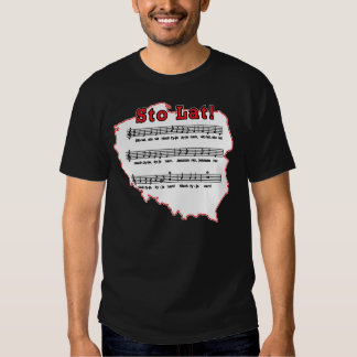 Sto Lat Song on Poland Map T Shirts