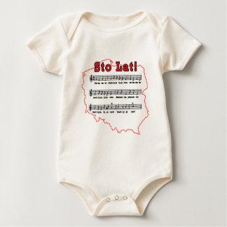 Sto Lat! Song Polish Map Baby Bodysuits