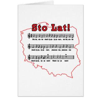 Sto Lat! Song Polish Map Card