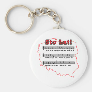 Sto Lat! Song Polish Map Keychain