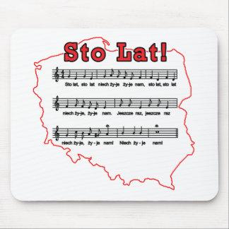 Sto Lat! Song Polish Map Mouse Pad