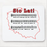 Sto Lat! Song Polish Map Mouse Pads