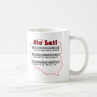 Sto Lat! Song Polish Map Classic White Coffee Mug