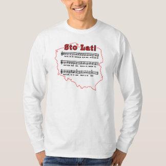Sto Lat! Song Polish Map Tee Shirts