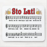 Sto Lat! Song With Beer Mugs Mouse Pad