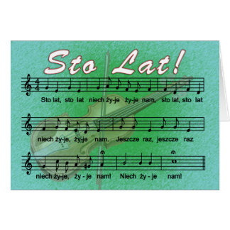 Sto Lat Song With Fiddle Card
