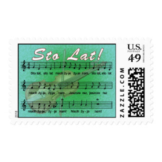 Sto Lat Song With Fiddle Stamps