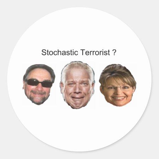 stochastic terror2 round stickers
