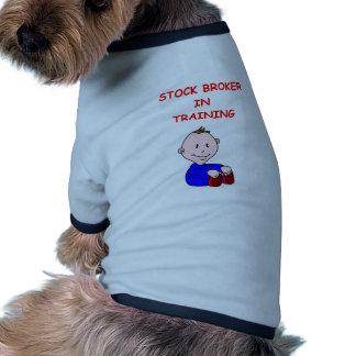 stock broker pet tshirt