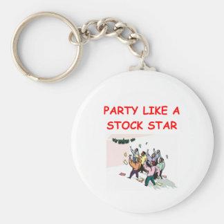 stock broker gifts t-shirts basic round button keychain