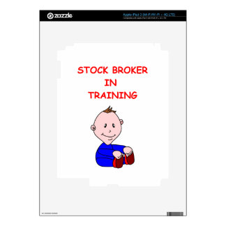 stock broker iPad 3 skins