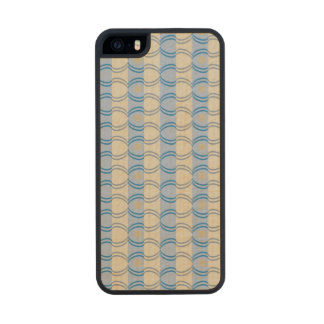 Stock Candystripe Blue Tan Carved® Maple iPhone 5 Slim Case