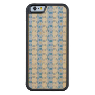 Stock Candystripe Blue Tan Carved® Maple iPhone 6 Bumper Case