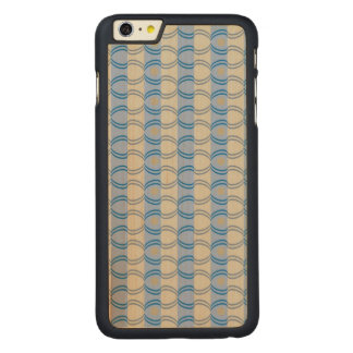 Stock Candystripe Blue Tan Carved® Maple iPhone 6 Plus Slim Case