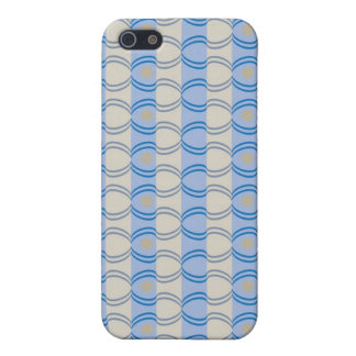 Stock Candystripe Blue Tan Cover For iPhone 5