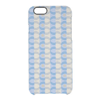 Stock Candystripe Blue Tan Uncommon Clearly™ Deflector iPhone 6 Case