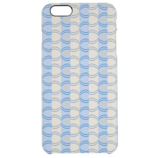 Stock Candystripe Blue Tan Uncommon Clearly™ Deflector iPhone 6 Plus Case