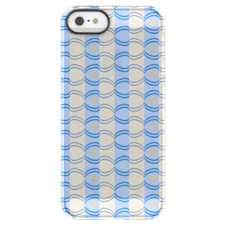 Stock Candystripe Blue Tan Uncommon Permafrost® Deflector iPhone 5 Case
