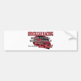 Stock Car Racing Bumper Sticker