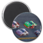 Stock Cars 4 2 Inch Round Magnet