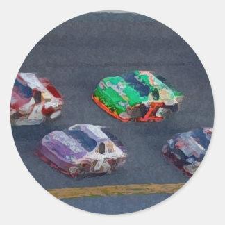 Stock Cars 4 Classic Round Sticker