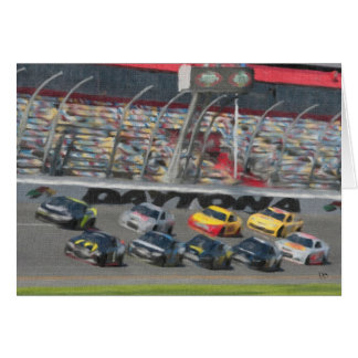 Stock Cars Greeting Cards