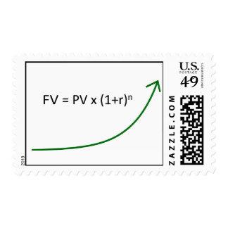 Stock Chart - Line Graph FV Postage Stamp