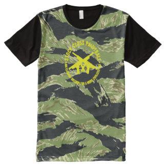 Stock Class Paintball Vietnam Tiger Stripe Camo All-Over-Print T-Shirt