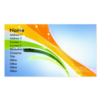 Stock colour backgrounds (8), Name, Address 1, ... Double-Sided Standard Business Cards (Pack Of 100)